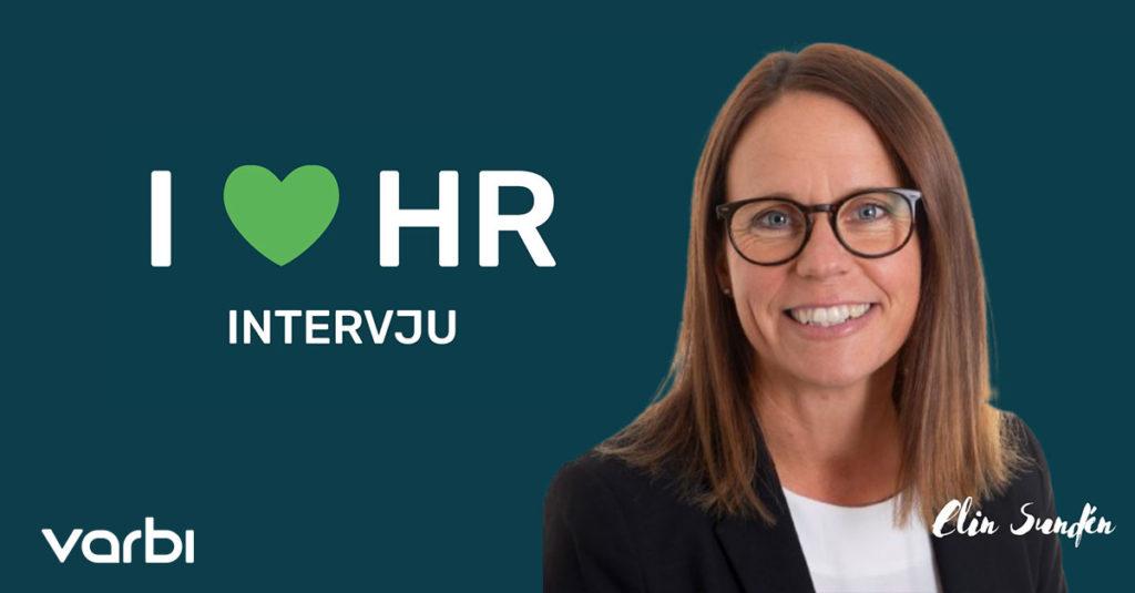 """Bild på Elin. Bredvid står det """"I love HR - intervju"""""""